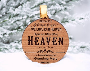Personalized Ornament / Because Someone We Love / In Memory / Memorial Gift / Remembrance Gift / Christmas Ornaments Personalized-SKU#504