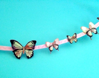 Pink Butterfly Garland