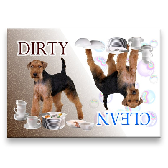 Welsh Terrier Clean Dirty Dishwasher Magnet
