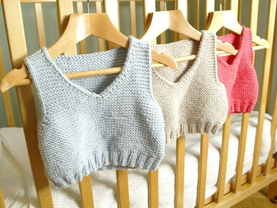 Easy Knitting Pattern Baby Vest Baby Body Warmer Baby Tank Top