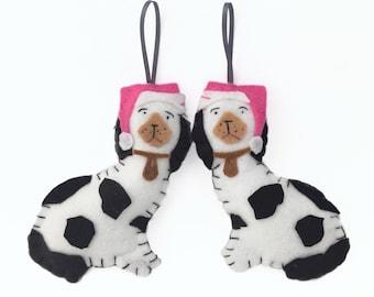 Preppy Christmas Ornament, Staffordshire Dogs, Chinoiserie Christmas, Preppy Holiday, Chinoiserie Chic, Staffordshire Xmas,  Palm Beach Chic
