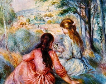 Fine Art Print - In the Meadow - Renoir - Masterpiece Painting - Reproduction Print - 12 x 10