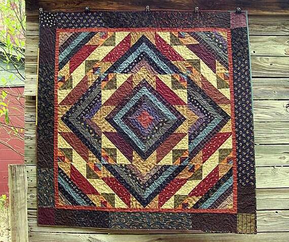 Muster: Grampas sah Mühle-Quilt-Muster von primitiven Stücke