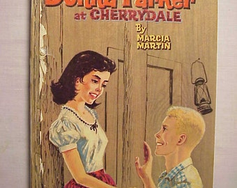 1957 Donna Parker at Cherrydale By Marcia Martin Illustrated By Jon Nielsen , Vintage Whitman Series Book
