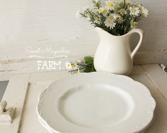 2 - 10 inch Dinner Plates - J & G Meakin Sterling Colonial English Ironstone - Farmhouse Style Decor