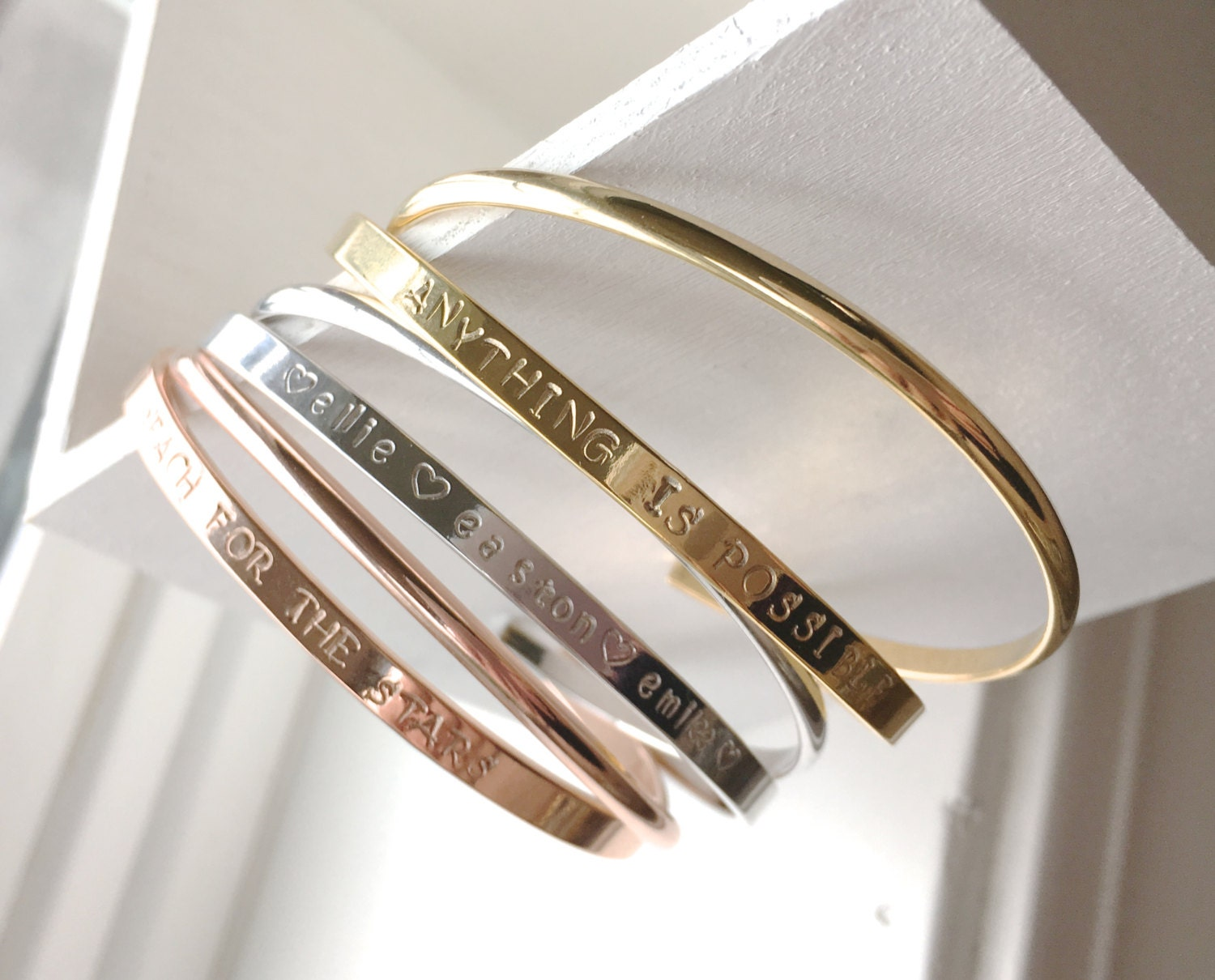 personalised by bangle product sallyclayjewellerydesign personalized sally clay bangles bracelet story bracelets storyteller necklace or your original