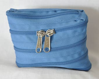 Keychain with key zipper fully zipped
