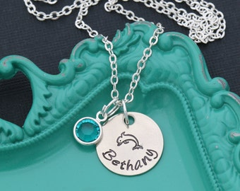 Dolphin Gift Beach Necklace Dolphin Personalized Dolphin Lover • Cute Girls Necklace Gift Save Dolphin Jewelry Dolphin Rescue