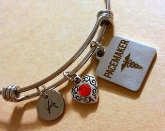 Pacemaker bracelet - medical alert jewelry - medical I.D bracelet - medical alert - pacemaker - EKG - gift for her - medical alert bracelet