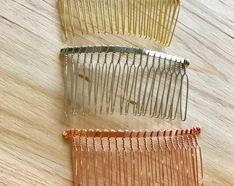 Veil hair comb add on