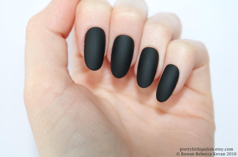 Matte black oval nails Nail designs Nail art Nails
