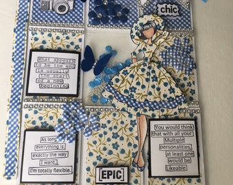 """8 1/2"""" """"Fly Chic"""" Shaker Pocket Pages Creations"""