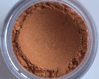 Rose Gold - Lustrous Natural Eyeshadow - Vegan Mineral Makeup - Pink Copper with Warm Golden Shimmer, No Gluten, No Corn No Carmine, On Sale