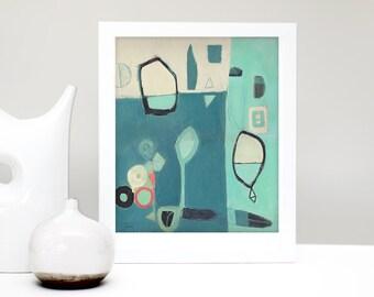 Abstract Art, Mid Century Modern Art Print, Modern Abstract Art, Contemporary Art