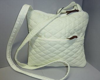 Winter White Crossbody Handbag