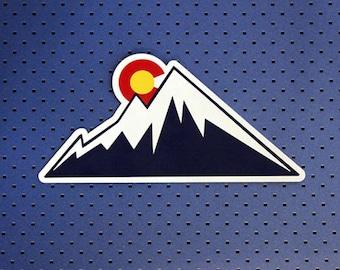 Colorado Mountain Sun Bumper Sticker