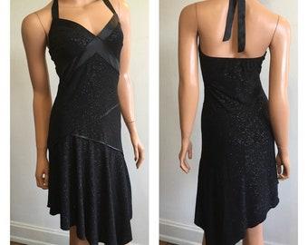 90's Sparkle Dress Sparkle Halter Dress 90's Does 20's Dress Shimmer Flapper Dress Gatsby Dress Sparkle Flapper Halter Flappper Dress Size M