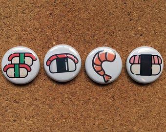 """Sushi pinbacks buttons 1"""""""
