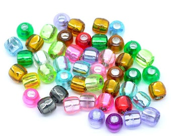 20 Pearly acrylic barrel shape beads