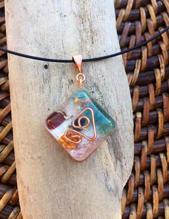Fairy Magic Orgone Energy Charm- Joy & Love Manifestation Orgonite® Necklace- Negative Energy Clearing- Love Attraction Orgonite® Pendant