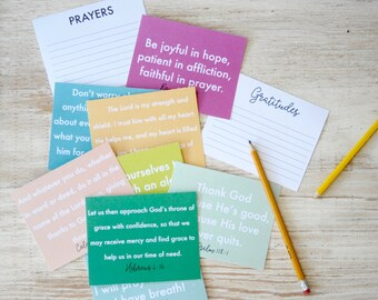 Prayer and Gratitude Cards, Bold and Colorful, Instant Download