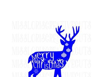 Merry Christmas Buck SVG cricut cameo Christmas svg, buck svg, snowflake svg, deer svg, Merry Christmas svg, Commercial use