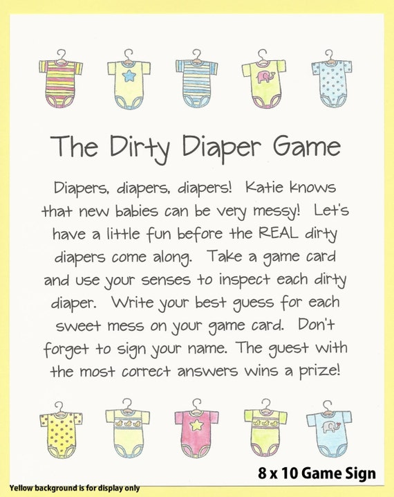 Beautiful The Dirty Diaper Baby Shower Game Chocolate Candy Shower