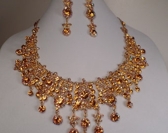 Over-the-Top Necklace and Earrings Set-WOW!