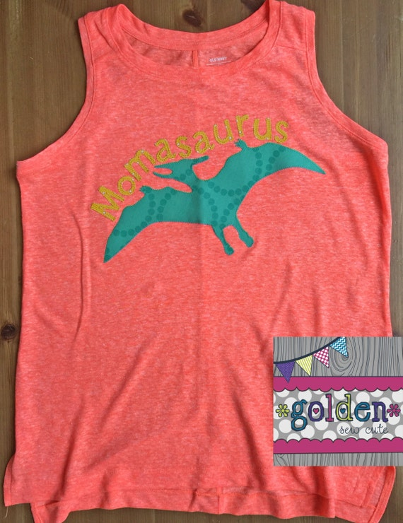 Mamasaurus Pteranodon Dino, Dinosaur Name and Age, Number, Birthday Tee, MOM