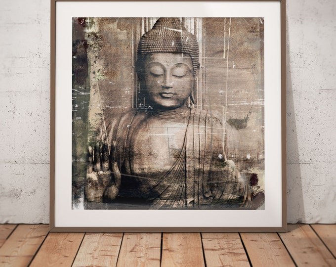 Buddha III by Sven Pfrommer - Artwork is ready to hang with a solid wooden frame