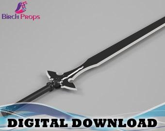 Kirito Long Sword: Sword Art Online - Download Only (STL 3D Files)