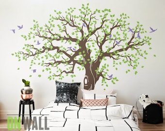 Large Family Tree Wall Decal, Nursery Tree Wall Decals, Tree Mural, Vinyl  Wall