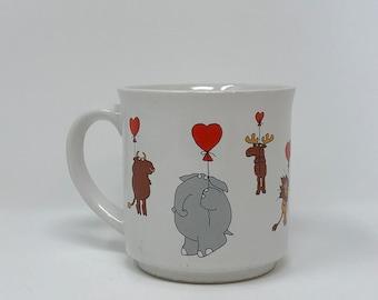 Boynton Mug Vintage Animal Heart Balloons Love Birthday Gift Anniversary