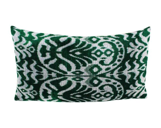 Silk Velvet Ikat Pillow Cover Lp507, Bohemian pillow, Velvet Ikat Pillow, Velvet Pillow, Velvet Pillow Cover, Ikat Pillows, Throw Pillows