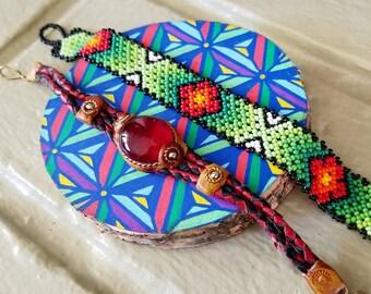 Set of Two Huichol Bracelets