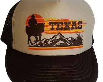 Texas Cowboy Western Snapback Mesh Trucker Hat Cap Brown 2fde23bde49c