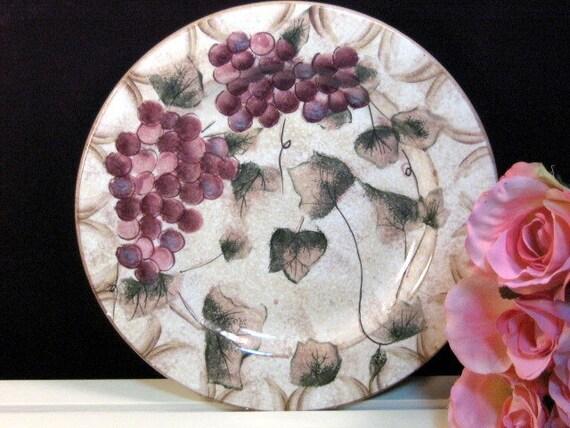 Like this item? & Vintage Oneida Dinnerware Veneto Grape Round Chop Platter