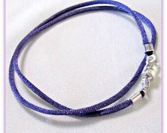 12 - 24 inch Purple Necklace Cord, Satin Cord, Pendant Cord, Choker, Jewelry Cord, Charm Cord,  Jewelry Accessory,  Magnetic Clasp, Custom