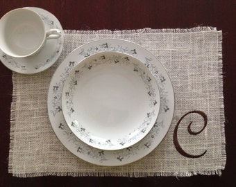 Burlap Placemat Custom Embroidery