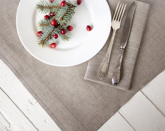 Linen tablecloth - Rustic tablecloth for wedding - Xmas tablecloths - Christmas table decor - Wedding linens - Linen Table cover