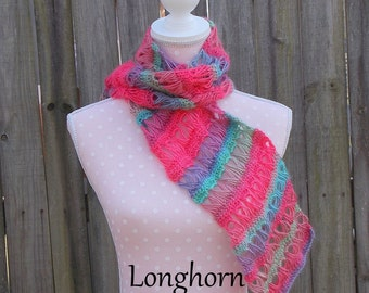 Broomstick Lace Scarf crochet PATTERN PDF (instant download)