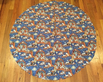 Christmas Nativity Tree Skirt