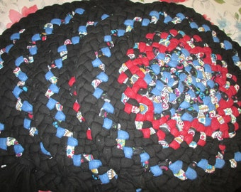 Adirondack Foothills 14 1/2 inch Set of 4 Multi-Blue-Red-Black Chair Pad Set