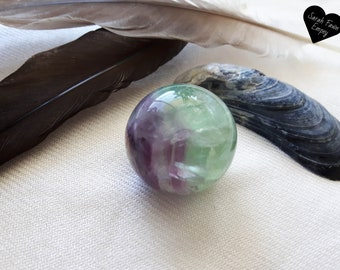 Fluorite Crystal Sphere | Crystal Ball | Green and Purple Fluorite Sphere | Crystal Spheres | Fluorite Spheres | Fluorite Crystal Ball