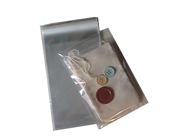 200 Cello Bags 4x6 clear  lip and tape- WHOLESALE Craft Supply - Great packaging for Business Cards - Soaps - Jewelry - freebies