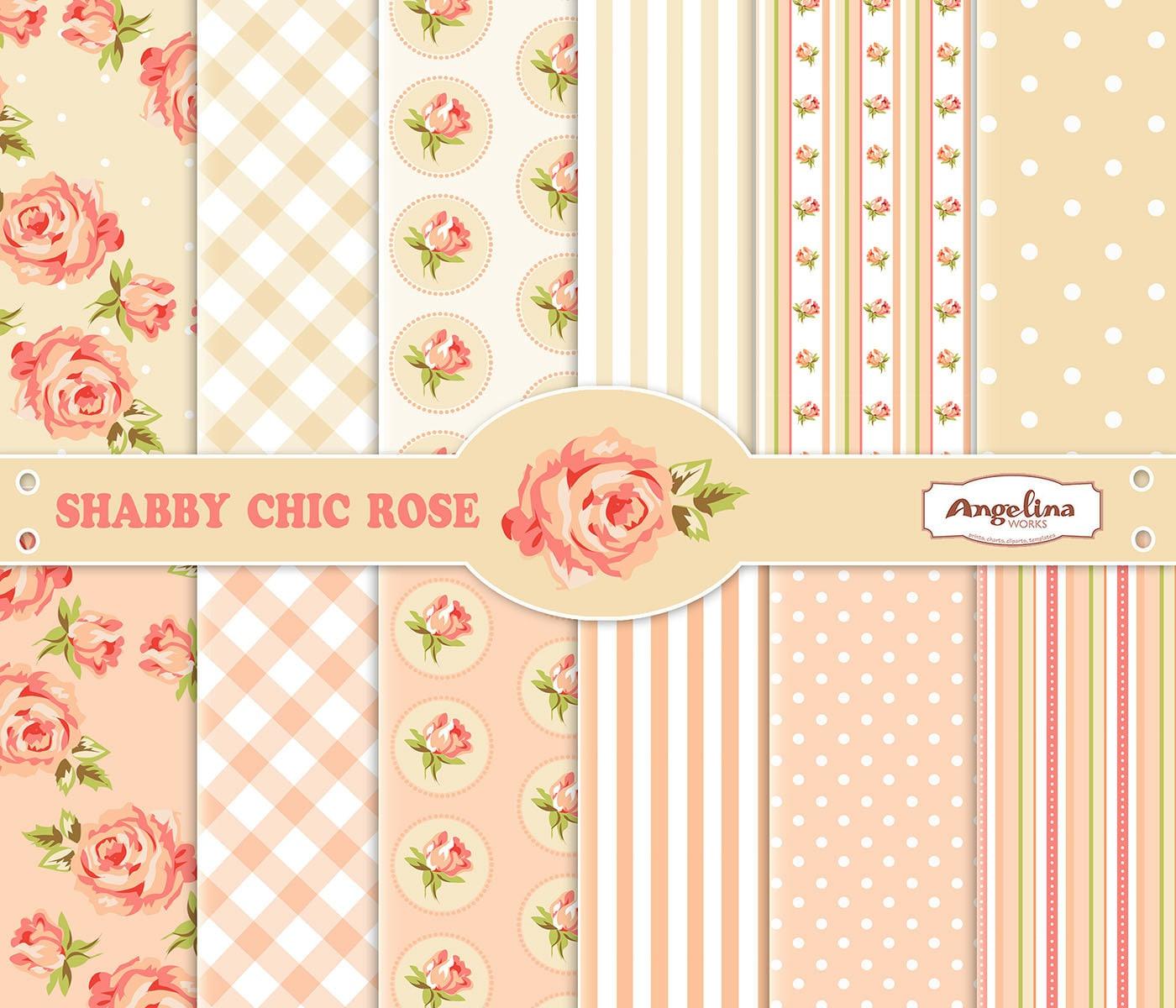 Surprising Scrapbook Digital Paper Shabby Chic Roses Digital Quotes Beutiful Home Inspiration Xortanetmahrainfo
