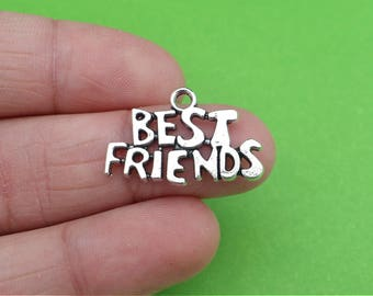4 Best Friends BFF Silver Charms (CH351)