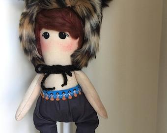 Handmade Ooak Doll / Art Doll / Heirloom Doll / Cloth Doll / Fabric Doll / Gifts for Baby / Nursery