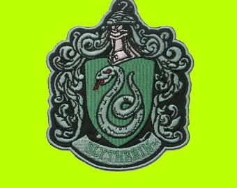 HARRY POTTER SLYTHERIN Embroidered Robe Iron On Patch
