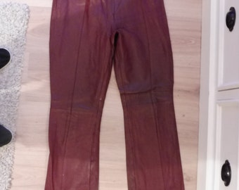 Leather SAKI size 38 pants